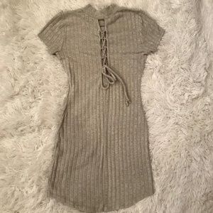 Grey Tight Fitted Dress